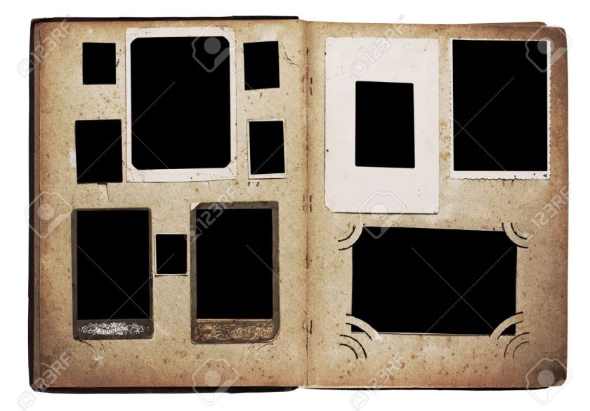 10762218-viejo-álbum-de-fotos-aisladas-sobre-fondo-blanco